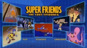 Superfriends: The Lost Episodes - DVD Menu
