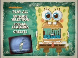 Spongebob's Truth or Square - DVD Menu