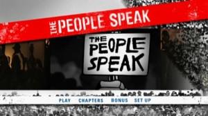 The People Speak - DVD Menu
