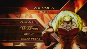X-Men Animated Series Volume 5 - DVD Menu