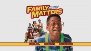Family Matters Season One - DVD Menu