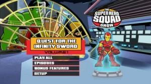 Super Hero Squad Volume 1 - DVD Menu
