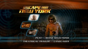 Escape from New York - DVD Menu