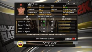 MLB 2k11 - Screen Four